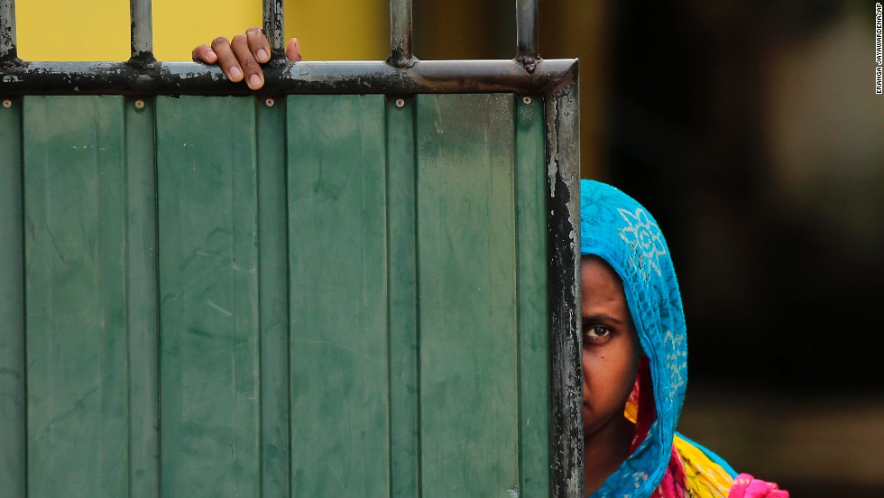 A Muslim woman in the aftermath of clashes in Aluthgama. The U.S. Embassy in Sri Lanka condemned the violence, which followed a rally by Buddhist hardliners days after an alleged altercation between a Muslim driver and a Buddhist monk and his driver.