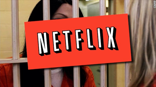 The Netflix logo appears over a scene from its original show 'Orange is the New Black.'
