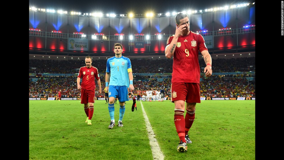 Spain's disappointing display in Brazil brought its era of domination in world and European football to a close.