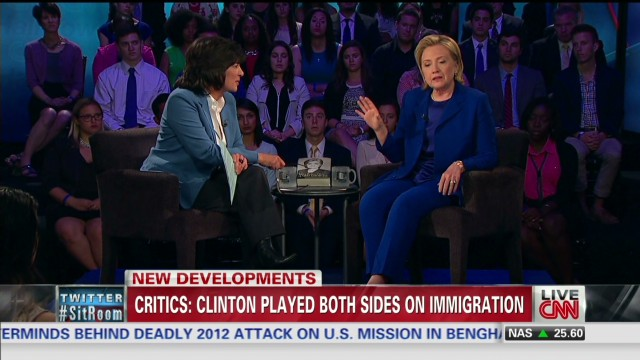 Clinton gets blowback on immigration