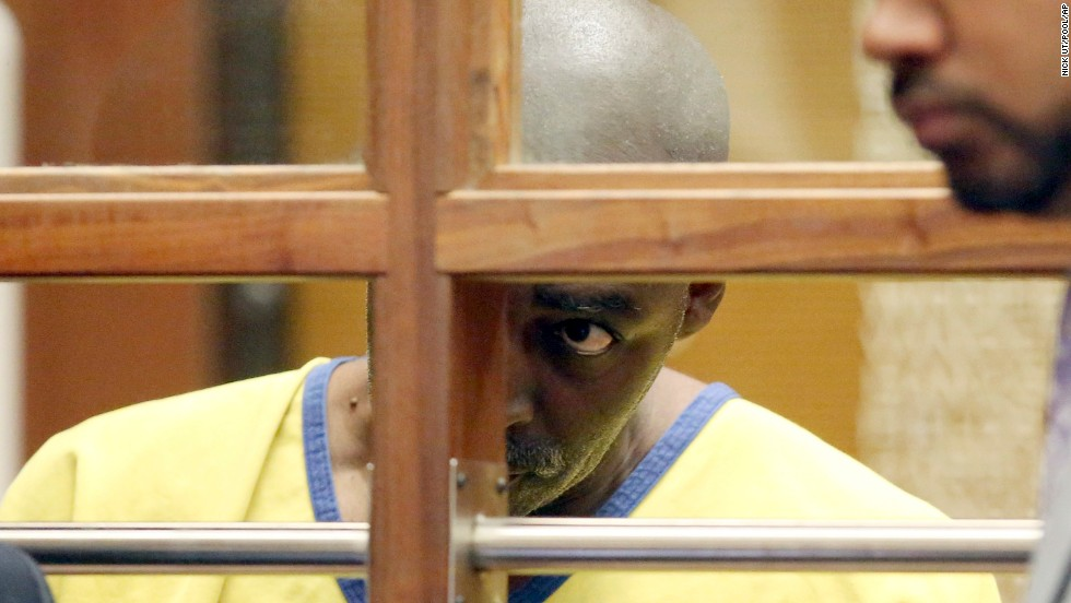 Actor Michael Jace appears in a Los Angeles courtroom on Wednesday, June 18. Jace was charged with murder after the shooting death of his wife, April, last month. He has pleaded not guilty.