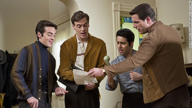 "Vincent Piazza, Erich Bergen, John Lloyd Young and Michael Lomenda play the Four Seasons in ""Jersey Boys,"" directed by Clint Eastwood."
