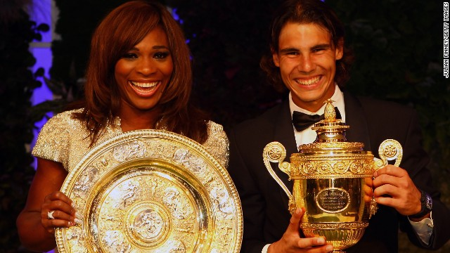 Serena Williams and Rafael Nadal won Wimbledon in 2010 but they have difficult draws this year.