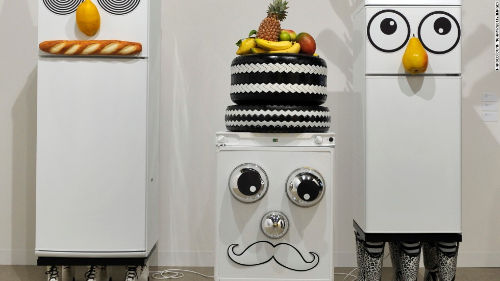 "<em>'Refrigerator' by American artist Rob Pruitt </em><br /><br />Each edition of Art Basel is shaped by its host city, and Marc Spiegler says that the fact that the Swiss base might not have as much much cosmopolitan allure as its counterparts in Hong Kong and Miami might actually be an advantage: ""It's not a city where much else is going on that competes with the show. It's not a place where you have a lot of film stars or the same amount of night life as in Hong Kong or Miami. Even if you're going out until four in the morning, you're going out with a museum curator and members of the art world,"" says Spiegler."