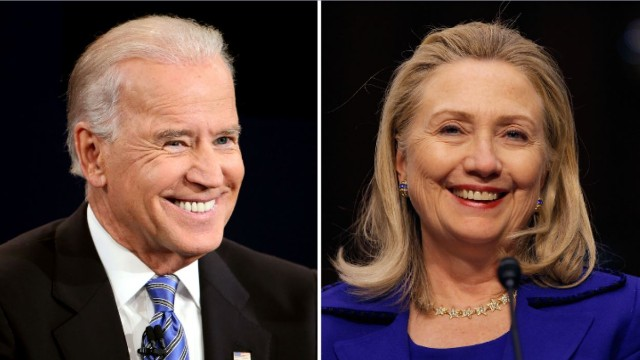 Biden contrasts Clinton's wealth