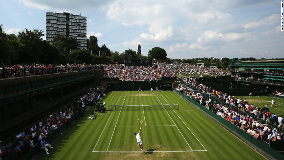 James Duckworth of Australia faces off against France's Richard Gasquet on Court 18. 13th seed Gasquet, a semifinalist at Wimbledon in 2007, won the first round match 6-7 (3/7) 6-3 3-6 6-0 6-1.
