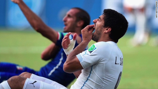 Luis Suarez in new 'biting' storm