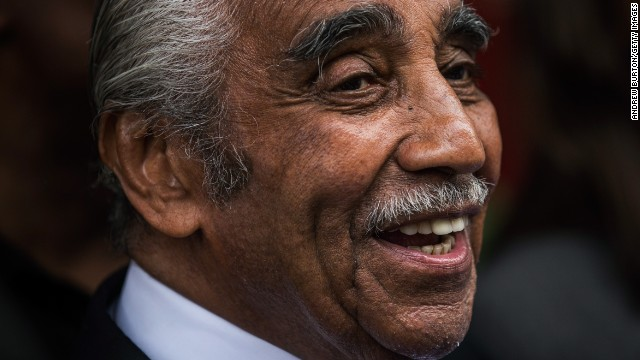 NEW YORK, NY - JUNE 24:  Rep. Charlie Rangel (D-NY) speaks to the media after voting in the Democratic Primary for the 13th congressional district of New York on June 24, 2014 in the Harlem neighborhood of New York City.   The 84-year-old congressman faces a tight Democratic primary election against state Sen. Adriano Espaillat.  (Photo by Andrew Burton/Getty Images)