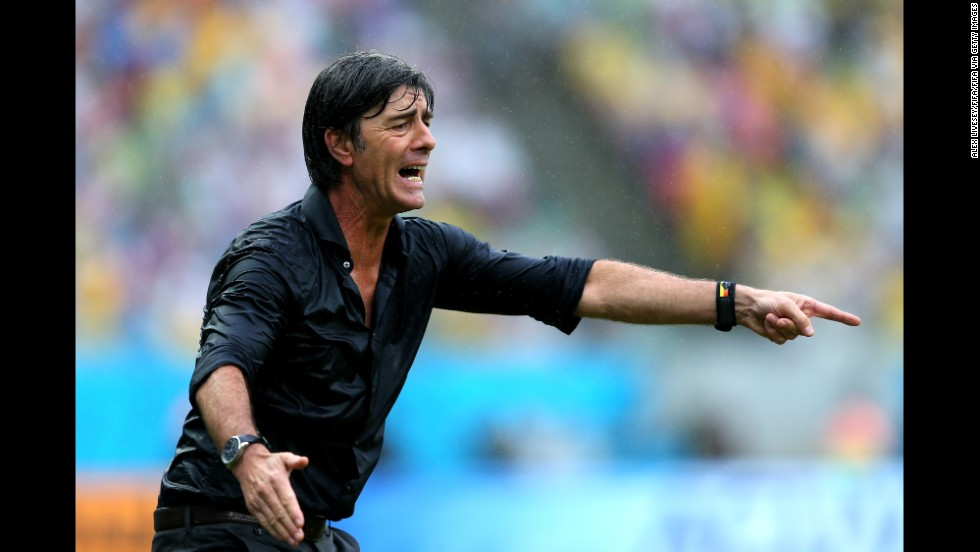 Germany head coach Joachim Loew gestures during the game against the United States.