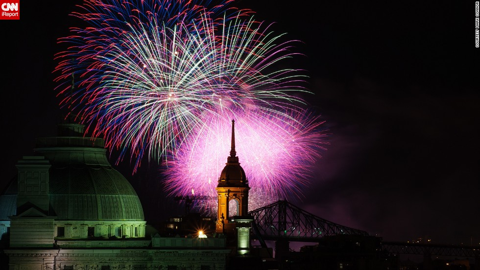 "In late July 2012, <a href=""http://ireport.cnn.com/docs/DOC-996683"">Mark Conner</a> attended the L'International des Feux Loto-Québec. The annual international fireworks competition in Montreal, Quebec, offers up a dazzling display of color and light."