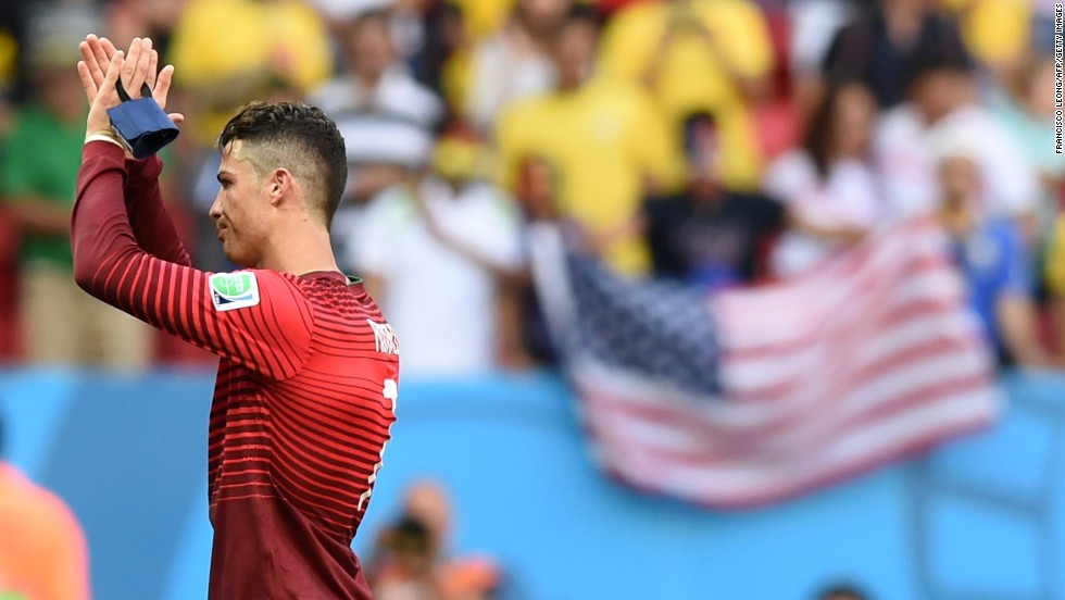 Portugal's Cristiano Ronaldo reacts after defeating Ghana 2-1 in a World Cup match in Brasilia on Thursday, June 26. A late strike by Ronaldo ensured Team USA qualified for a spot in the final 16 on goal difference, despite losing to Germany.