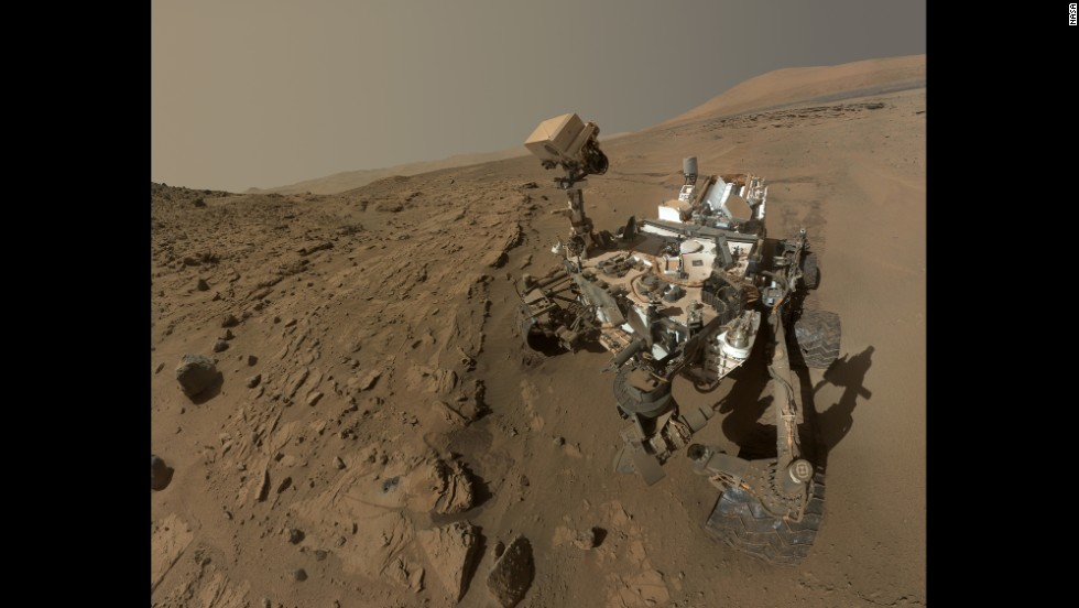 NASA released a selfie captured by the Curiosity rover on Tuesday, June 24, to celebrate a full Martian year -- 687 days -- since its touchdown on the Red Planet. The self-portrait is a composite of dozens of images captured in April and May.
