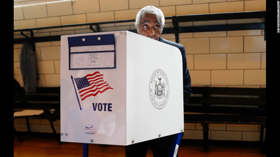 Rep. Charlie Rangel votes in the Democratic primary election in New York on Tuesday, June 24. The Democratic congressman from New York, who was first elected to the House of Representatives 44 years ago, survived a close race against State Sen. Adriano Espaillat.