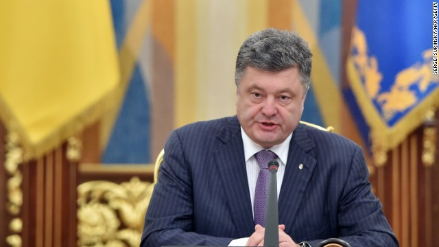 "File photo: Ukrainian President Petro Poroshenko said his country will not renew a cease-fire with pro-Russian separatists, vowing instead ""we will advance, and we will liberate our land."""