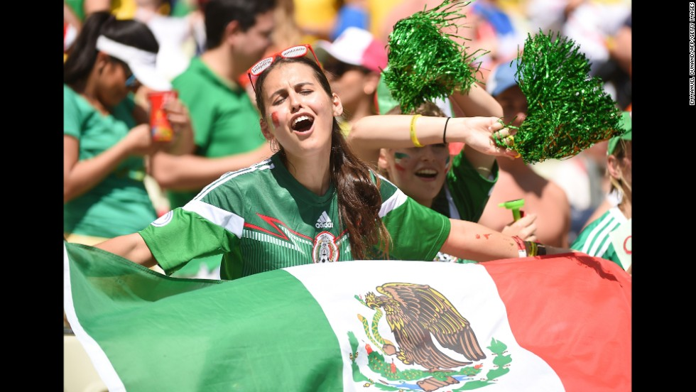 "Mexican supporters cheer for their team before the game. <a href=""http://www.cnn.com/2014/06/28/football/gallery/world-cup-0628/index.html"" target=""_blank"">See the best World Cup photos from June 28.</a>"