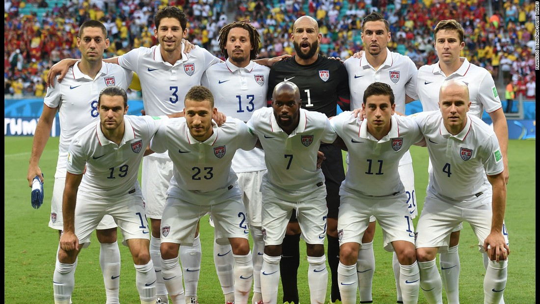 The U.S. men have not reached the World Cup quarterfinals since 2002. The 2014 team (pictured) lost in the last 16 against Belgium in Brazil.