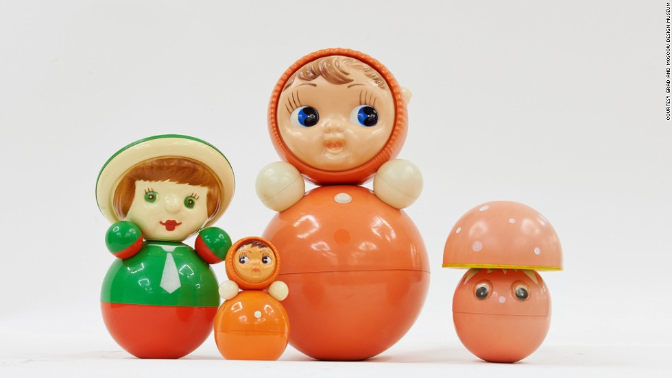 "<strong>Nevalyashka Dolls, from 1958</strong><br /><br />Fifty defining objects -- often beloved Eastern Bloc staples like this Nevalyashka roly-poly doll -- have been gathered together in a new exhibition at <a href=""http://www.grad-london.com"" target=""_blank"">the Gallery for Russian Arts and Design</a> in London. ""Work and Play Behind the Iron Curtain"" explores the changes in Soviet design from the 1917 Revolution to Perestroika.<br /><br />Product design ""really only emerged with Khruchshev's thaw,"" said gallery founder and exhibition co-curator Elea Sudakova. ""Of course goods were made [before that], but aesthetically they really looked terrible...people didn't have toys, they had nothing around them.""<br />"