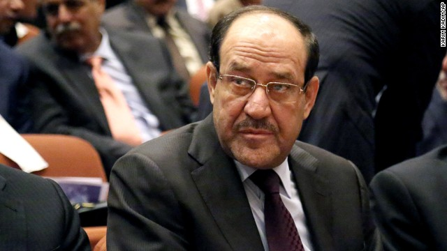 Iraqi Prime Minister Nuri al-Maliki attends the first session of parliament in the Green Zone in Baghdad, Iraq on July 1, 2014.