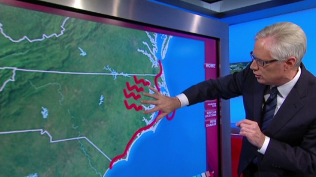Which areas will Hurricane Arthur impact?