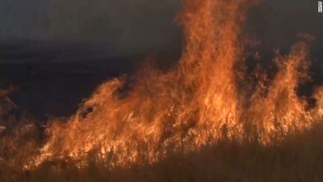 Wildfire tears through Napa County