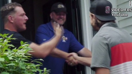pkg NFL Colts player renovates veteran mcafee fleener_00003006.jpg