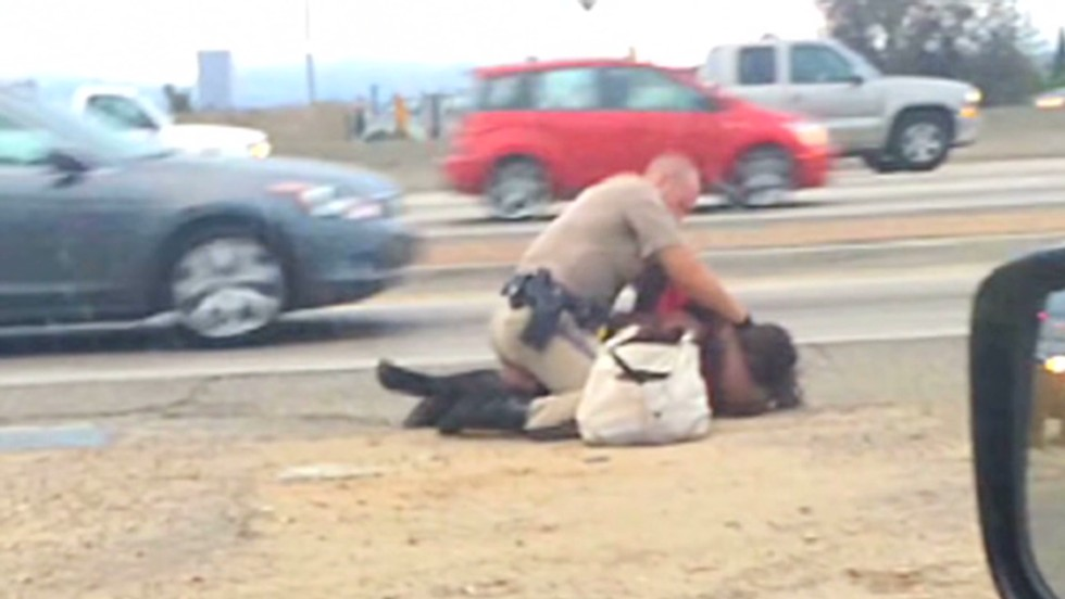 Family of woman beaten by California patrol officer plans to sue