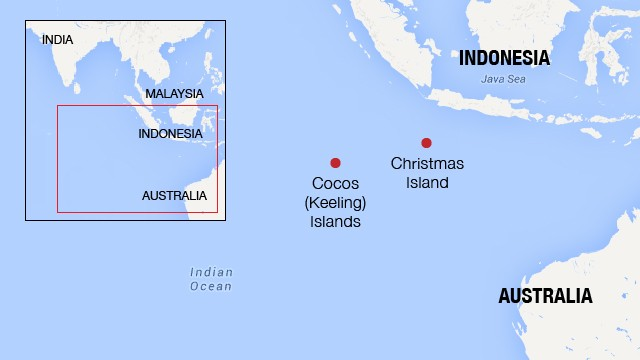 Both boats were near the Cocos Islands