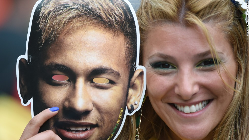 Brazil's forward Neymar inspired a number of kitschy souvenirs.