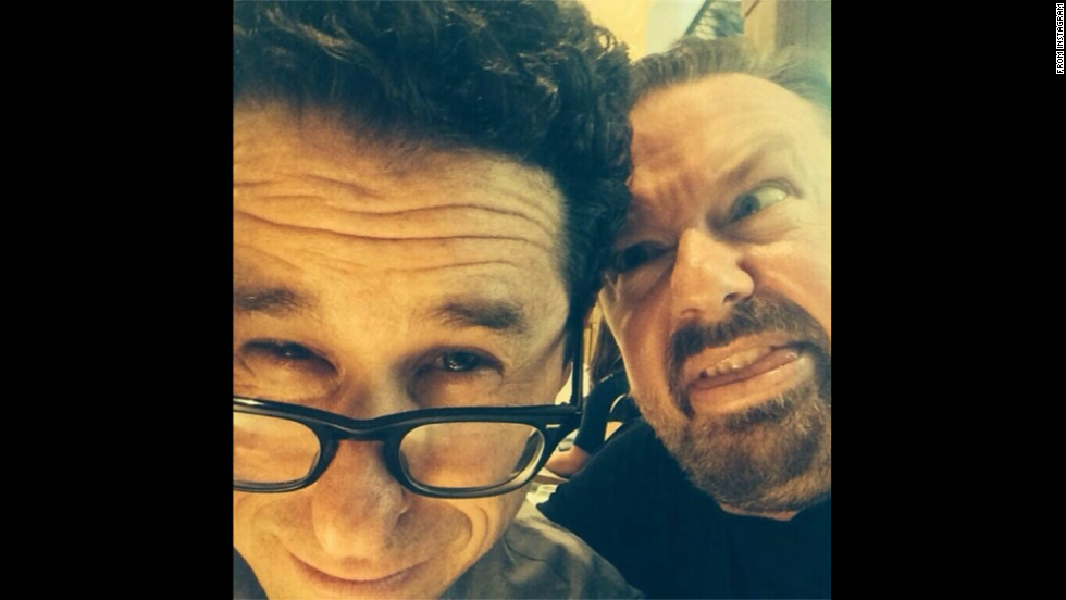 """No better way to celebrate Independence Day than with America's finest JJJ Abrahamrahams,"" wrote comedian Ricky Gervais as he <a href=""http://instagram.com/p/qCnzh8l46g/"" target=""_blank"">posted an Instagram selfie </a>with film director J.J. Abrams, left, on Friday, July 4."