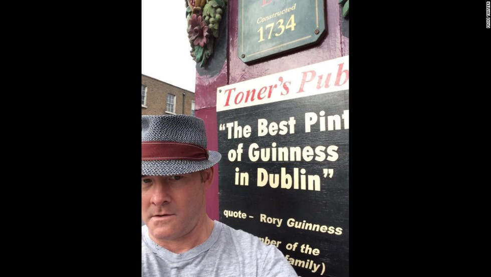 "Actor David Koechner <a href=""https://twitter.com/DavidKoechner/status/486256805161758720"" target=""_blank"">tweeted this photo</a> outside a pub in Dublin, Ireland, that claimed to have the best pint of Guinness in the city. ""I guess I will decide?"" Koechner wrote on Monday, July 7."