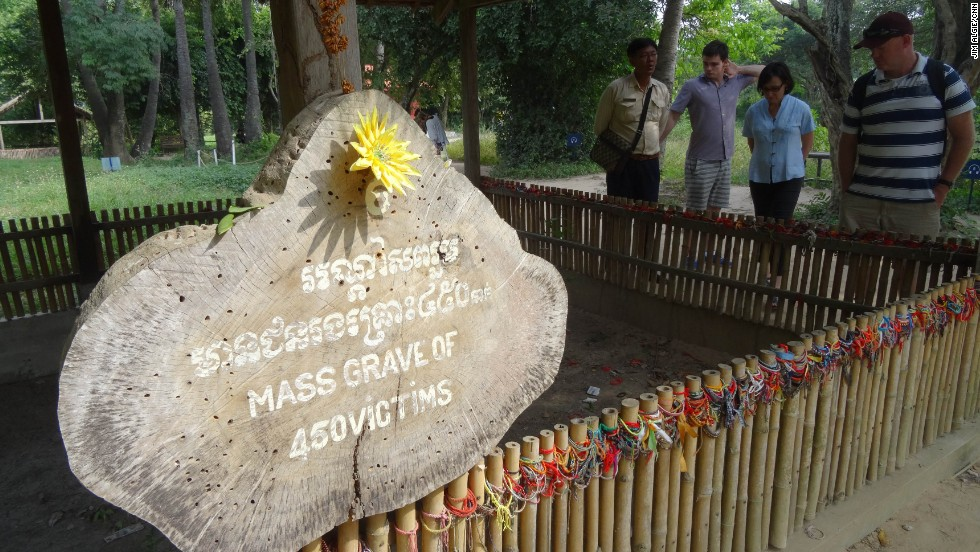 When local authorities renovated the Killing Fields in 2011, they turned this series of mass graves, where the Khmer Rouge executed and buried the inmates of Tuol Sleng, into a tourism spectacle, complete with audio tours, benches, refreshment stalls and souvenir stands.