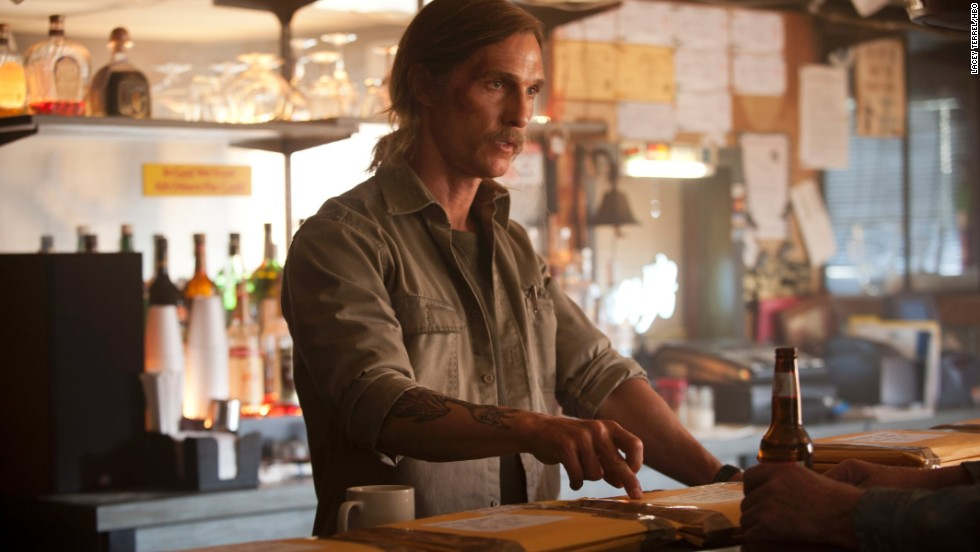 "If the intriguing plot isn't enough to keep you hooked from one episode to the next of HBO's ""True Detective,"" what about Matthew McConaughey's performance? His transformation from clean-cut to grizzled alone makes the first season a prime candidate for binge-watching -- though <a href=""http://www.rollingstone.com/tv/features/what-went-wrong-with-true-detective-season-2-20150810"" target=""_blank"">fans weren't as thrilled with season 2</a>."