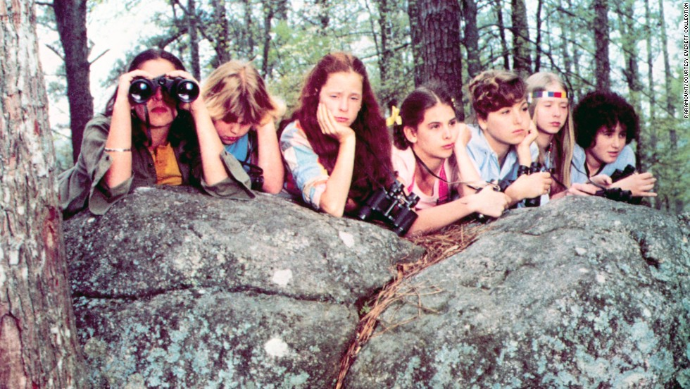 "Camp can be the place for romantic lessons and sexual awakenings, as in the 1980 film ""Little Darlings."" A talk about the birds and the bees might be in order before shipping off adolescent camp-goers. Pictured: Alexa Kenin, Jenn Thompson, Simone Schachter, Krista Errickson, Tatum O'Neal, Cynthia Nixon, Abby Bluestone."