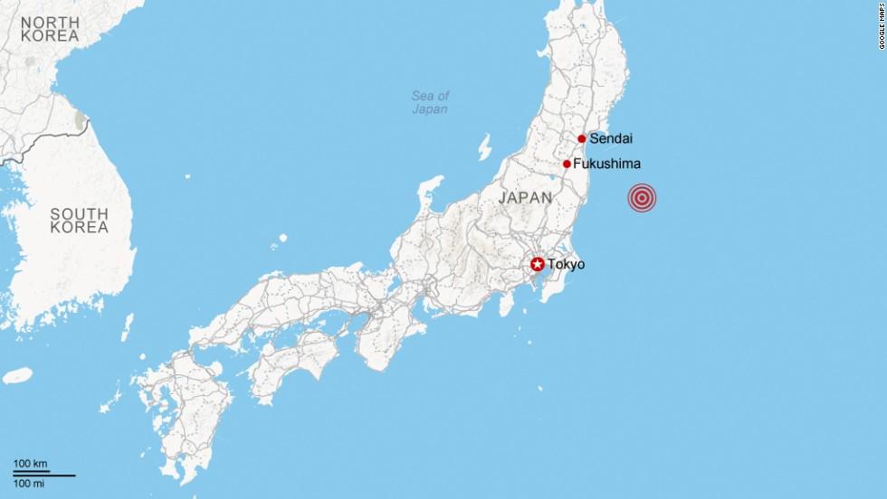 Earthquake Rocks Northern Japan CNN - Japan quake map 2016