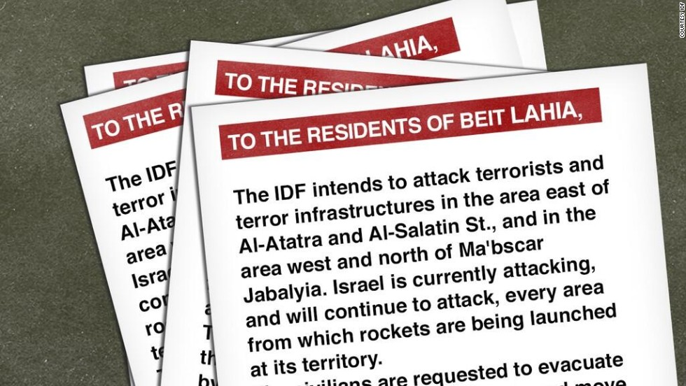 Israel drops leaflets warning Gaza residents to evacuate ahead of strikes