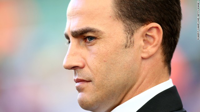 RIO DE JANEIRO, BRAZIL - JULY 13: Former Italian international Fabio Cannavaro looks on prior to the 2014 FIFA World Cup Brazil Final match between Germany and Argentina at Maracana on July 13, 2014 in Rio de Janeiro, Brazil. (Photo by Robert Cianflone/Getty Images)