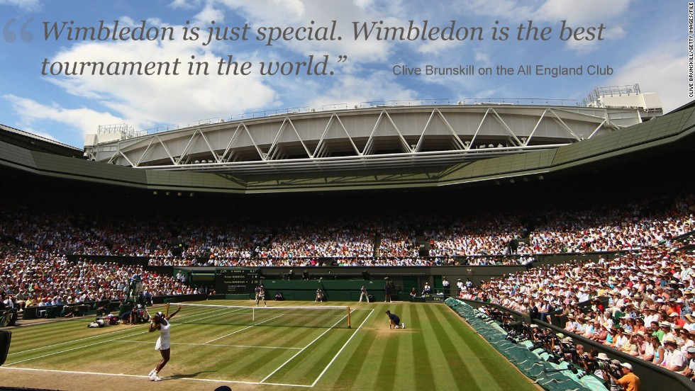 "Having started out taking pictures of football matches in the park, Brunskill now travels on the tennis circuit. <br /><br />While he admits to not being a huge fan of the sport, Brunskill holds a special fondness for the All England Club. ""Tennis for me is a business. It is a way of making a living,"" he told CNN. <br /><br />""Wimbledon is just special. Wimbledon is the best tournament in the world. The history when you go on to Centre Court ... it' special and all the players want to win. <br /><br />""A lot of the other tournaments, yes they want to win, but Wimbledon is the one. For me, if I was a player, Wimbledon would be the toughest."""