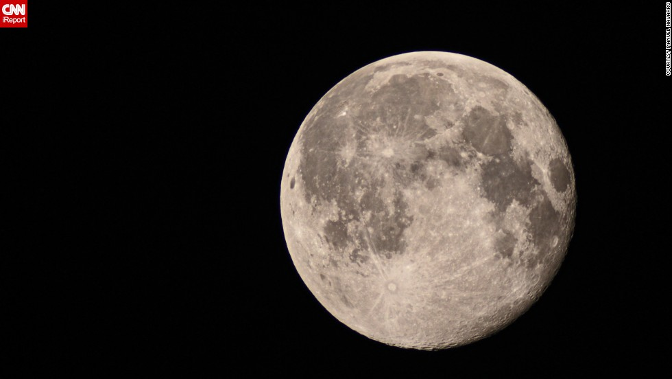 "After seeing people sharing beautiful supermoon photos, Manuel Navarro tried his hand at astrophotography. He captured this <a href=""http://ireport.cnn.com/docs/DOC-1152330"">up-close shot</a> of the moon over Chula Vista, California, with the help of a telescope on July 13."