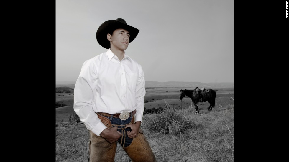 Stephen Yellowtail, an Industrial Engineering student at the South Dakota School of Mines and Technology, is pictured on his family cattle ranch in Crow Nation, Montana.