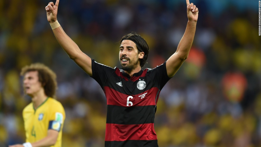 World Cup winner Sami Khedira signs a four-year contract with Juventus. He joins the Serie A side on July 1 when his contract with Real Madrid expires.