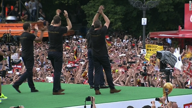 Germany celebrates World Cup victory