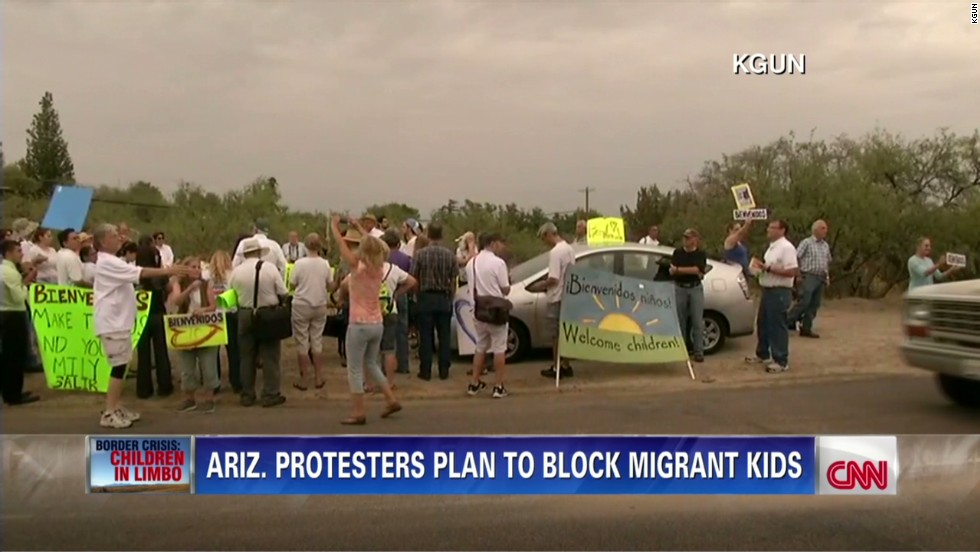 Growing protests over where to shelter immigrant children hits Arizona