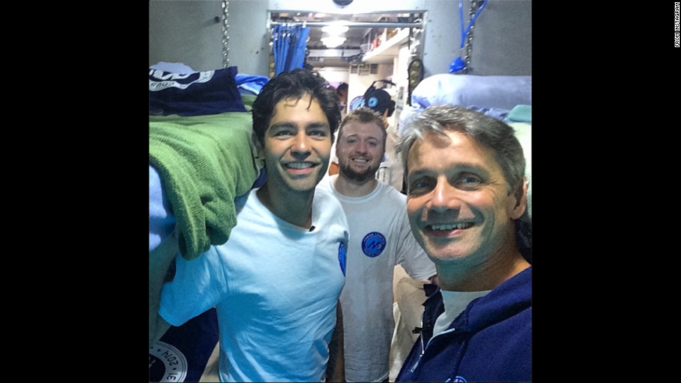 "Ocean explorer Fabien Cousteau, right, <a href=""http://instagram.com/p/qZ0A50DRsq/"" target=""_blank"">posted this selfie</a> of him with actor Adrian Grenier, left, and fellow supporter Charles Paret on Sunday, July 13. The photo was actually taken in June, when they were at the Aquarius underwater research lab. Cousteau, the grandson of legendary underwater explorer Jacques Cousteau, spent a month in the lab, which is 63 feet beneath the ocean's surface near Key Largo, Florida. He and a team of researchers <a href=""http://www.cnn.com/2014/06/04/tech/innovation/cousteau-mission-31/"">set out to study</a> how climate change and pollution affect ocean life."
