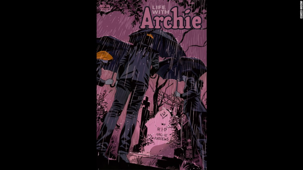 "In issue No. 36 of the ""Life With Archie"" series, out July 16, beloved redhead Archie Andrews meets his demise."