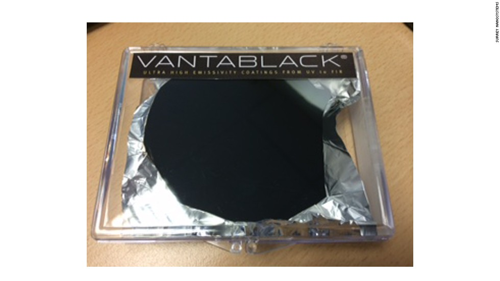 But once covered with Vantablack, all wrinkles and roughness seem to disappear, because the material absorbs 99.96% of all light.