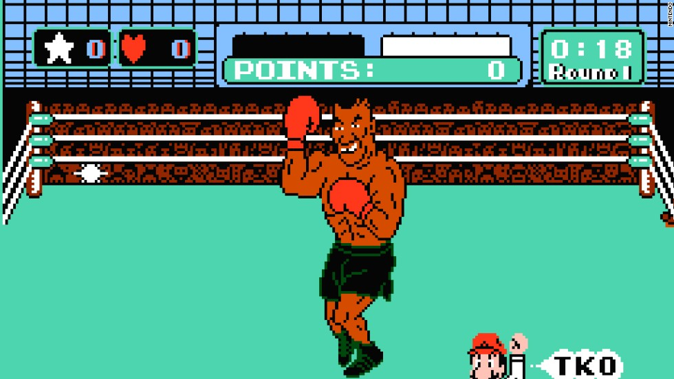 """Punch-Out!!"" and ""Super Punch-Out!!"" were arcade games first. But when they hit Nintendo home systems in 1987, the then-heavyweight champ's name and image were added. Players who beat a list of fictional characters could take on Tyson in a super-challenging bout. After Nintendo's license to use Tyson's image ended -- and he'd lost the title to James ""Buster"" Douglas -- the final opponent became ""Mr. Dream."""