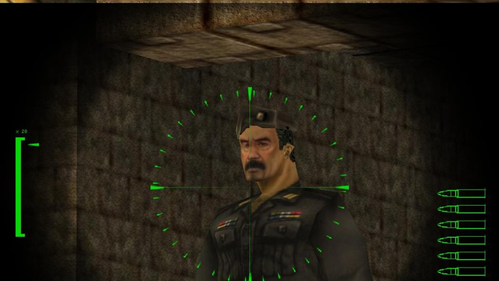"In 2000, what better villain was there for your violent first-person shooter than Saddam Hussein? ""Soldier of Fortune"" featured the former Iraqi dictator as well as fictional villains. It's not the only game to include Saddam. He's playable in 2000's ""South Park Rally"" alongside the likes of Stan, Cartman, Jesus and Satan."