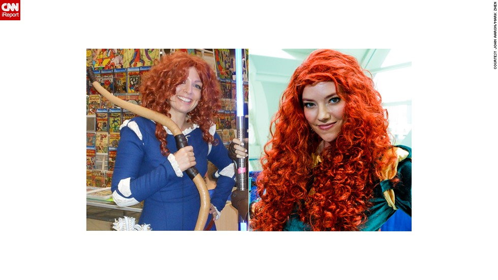 "It's not hard to find cosplayers dressed as the same characters at conventions like San Diego Comic-Con. But we're wondering: Who wore it best? Merida, the popular character with long red hair from the Disney-Pixar movie ""Brave,"" made a splash at Comic-Con 2012 when the movie was released, as seen in both these photos."