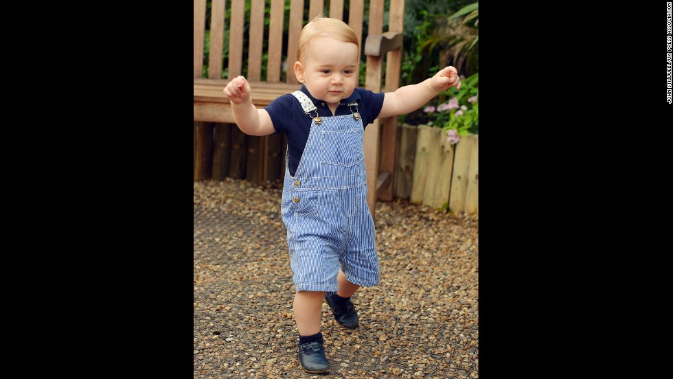 Prince George walks at the museum on July 2.