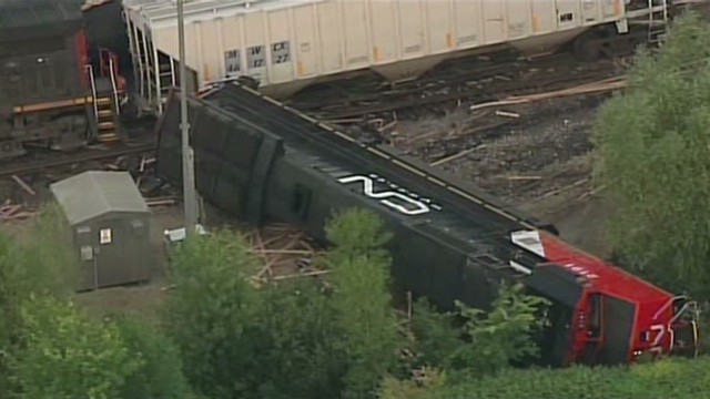 Diesel spill after two-train collision